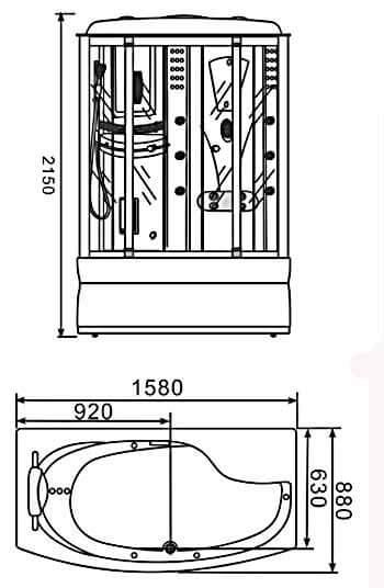 Phòng xông hơi ướt Nofer VS 806