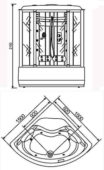 Phòng xông hơi ướt Nofer VS 809